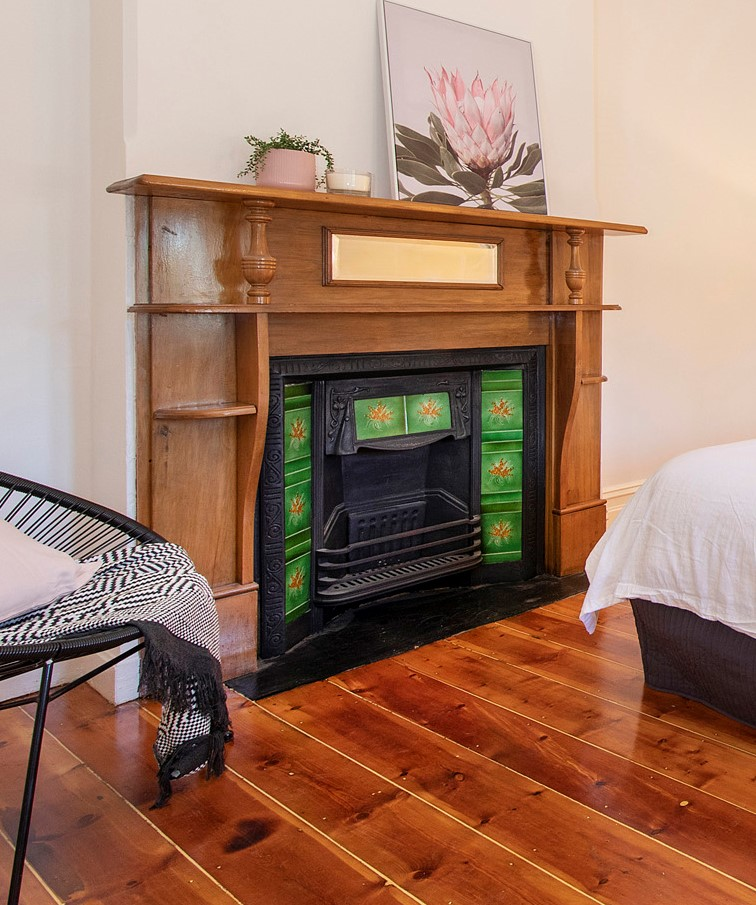2 gill st rosewater fireplace